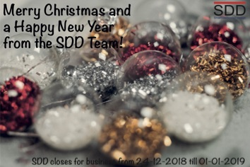 Merry Christmas and a Happy New Year from the SDD Team!
