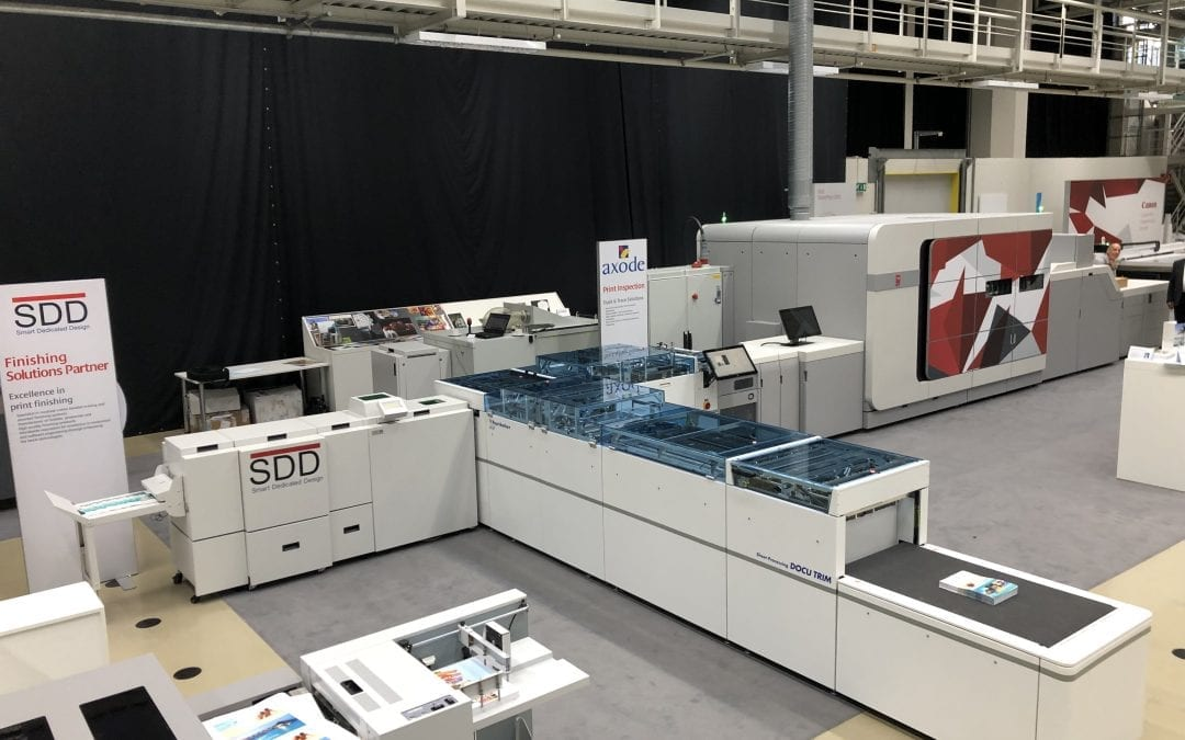 SDD BLM6900 adds professional booklet making to the Océ VarioPrint i300 alongside the multifunctional Hunkeler Docu Trim